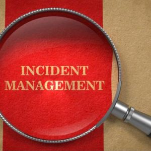 "Magnifying glass on ""Incident Management."""